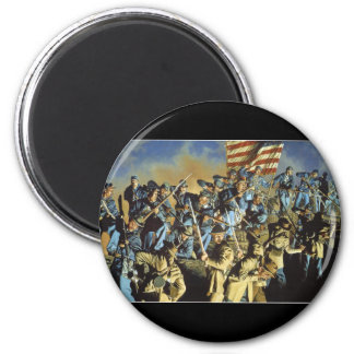 The Old Flag Never Touched the Ground Fridge Magnet