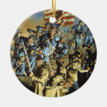 The Old Flag Never Touched the Ground Double-Sided Ceramic Round Christmas Ornament