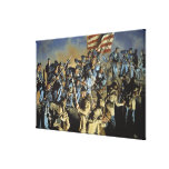 The Old Flag Never Touched the Ground Print Canvas Print