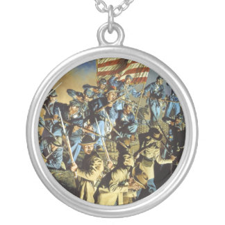 The Old Flag Never Touched the Ground Round Pendant Necklace
