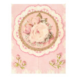 the old flower personalized letterhead