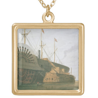The Old Frigate HMS Agamemnon with her weight of c Gold Plated Necklace