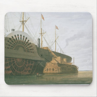 The Old Frigate HMS Agamemnon with her weight of c Mouse Pad