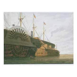 The Old Frigate HMS Agamemnon with her weight of c Postcard
