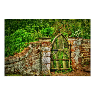 The Old Garden Gate Print (HDR)
