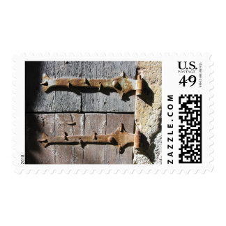 The old gate in France Postages Postage
