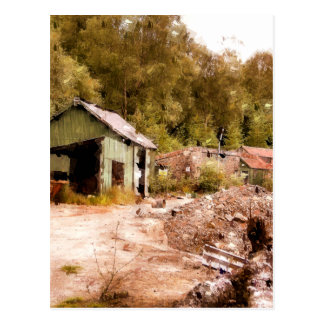 THE OLD GOLD MINE POSTCARD