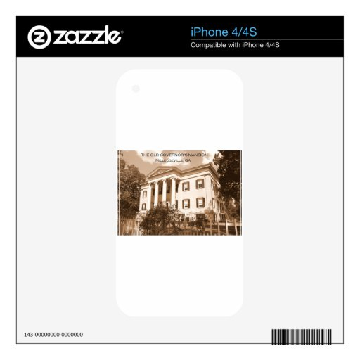 The Old Governor's Mansion, Milledgeville, Georgia Decal For iPhone 4S