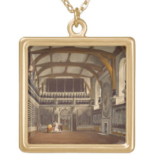 The Old Guard Chamber, The Round Tower, Windsor Ca Gold Plated Necklace