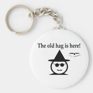 The Old Hag Basic Round Button Keychain