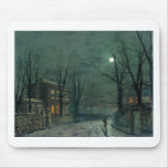 The Old Hall Under Moonlight John Atkinson Grimsha Mouse Pad