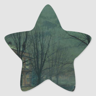 The Old Hall Under Moonlight John Atkinson Grimsha Star Sticker
