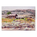 The OLD HOMESTEAD by SHARON SHARPE Greeting Card