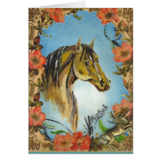 The Old Horse Vintage Design greeting card