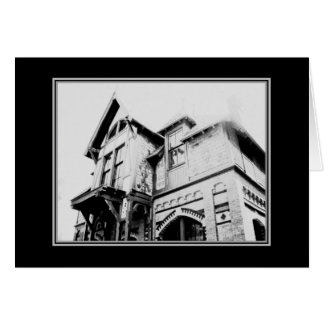 'The Old House' Halloween Card
