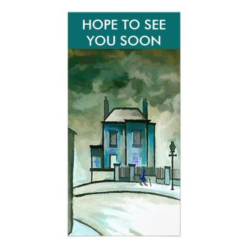 THE OLD HOUSE, HOPE TO SEE YOU SOON PICTURE CARD
