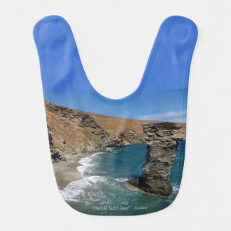 """""""The old lady's leap"""" - Andros Baby Bib"""
