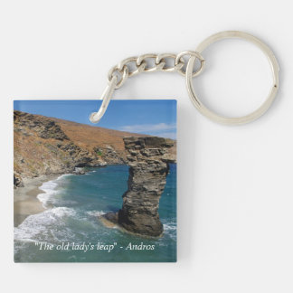 """""""The old lady's leap"""" - Andros Keychain"""
