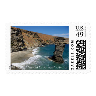 """The old lady's leap"" - Andros Postage"