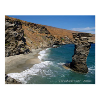 """""""The old lady's leap"""" - Andros Postcard"""