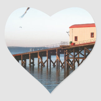 The Old Lifeboat Station at Tenby Heart Sticker