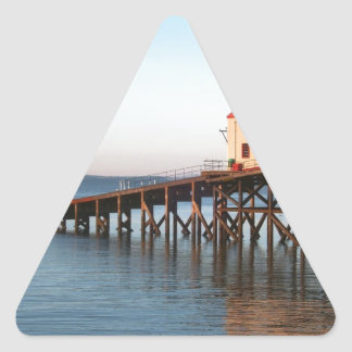 The Old Lifeboat Station at Tenby Triangle Sticker