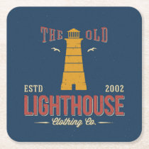The Old Lighthouse Clothing Co. Square Paper Coaster