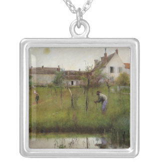 The Old Man in the Young Trees Silver Plated Necklace