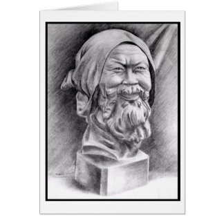 The Old Man Pencil Sketch (Card) Card