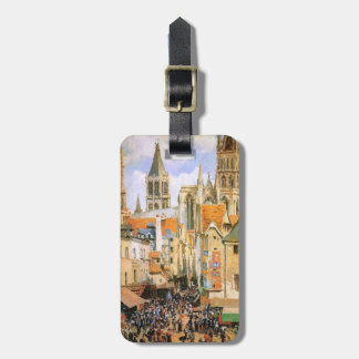 The old market at Rouen by Camille Pissarro Bag Tags