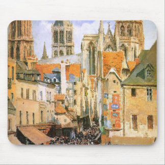 The old market at Rouen by Camille Pissarro Mouse Pad