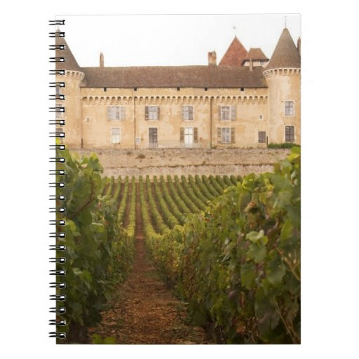 The old medieval Chateau de Rully in the Cote Spiral Note Books