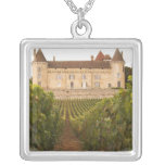 The old medieval Chateau de Rully in the Cote Square Pendant Necklace