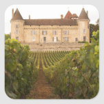 The old medieval Chateau de Rully in the Cote Square Stickers