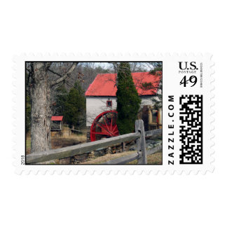 The Old Mill at Guilford Postage Stamp