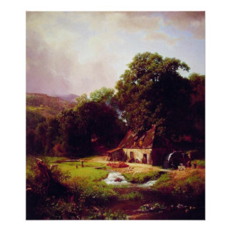 The old Mill by Albert  Bierstadt Poster