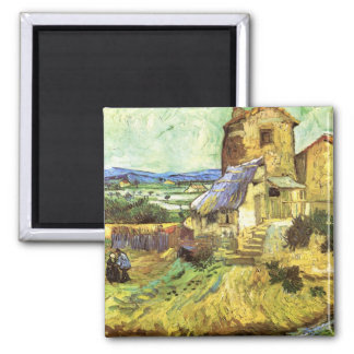 The Old Mill by Vincent van Gogh Magnets