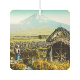 The Old Mill House in the Shaddow of Mt. Fuji Car Air Freshener