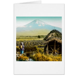 The Old Mill House in the Shaddow of Mt. Fuji Card