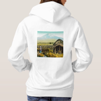 The Old Mill House in the Shaddow of Mt. Fuji Hoodie