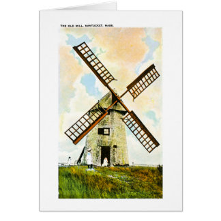 The Old Mill, Nantucket, Massachusetts Greeting Card