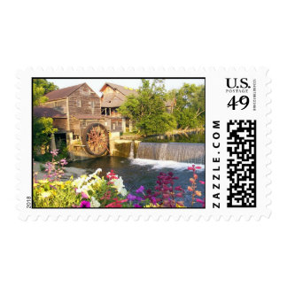 The Old Mill Postage Stamp
