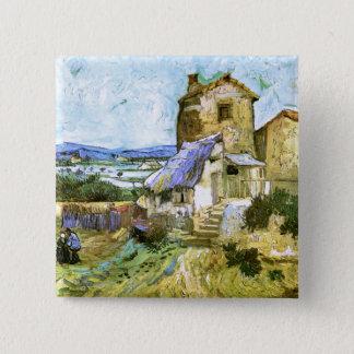 The Old Mill, Van Gogh Fine Art Pinback Button