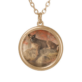 The Old Mountain Lion Gold Plated Necklace