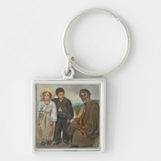 The Old Musician, 1862 (oil on canvas) Key Chains