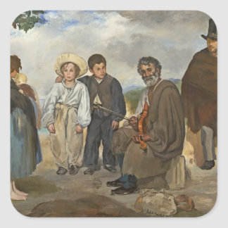 The Old Musician, 1862 (oil on canvas) Square Sticker
