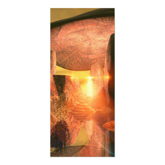 The old mystical temple 4x9.25 paper invitation card