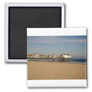 The Old Orchard Beach Pier 2 Inch Square Magnet