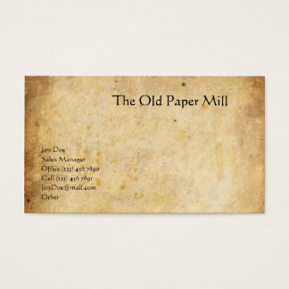 The Old Paper Mill Business Card