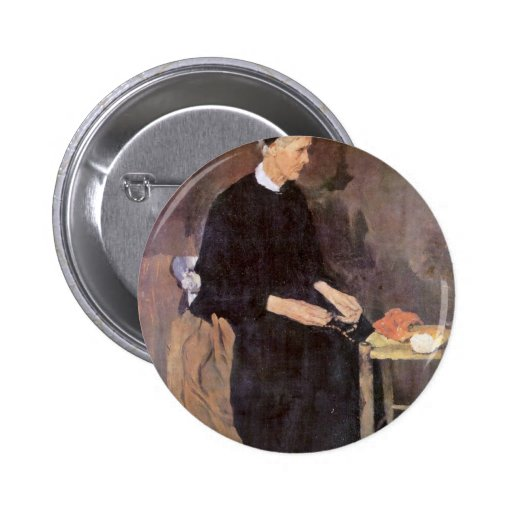 The Old Parisian By Leibl Wilhelm (Best Quality) 2 Inch Round Button